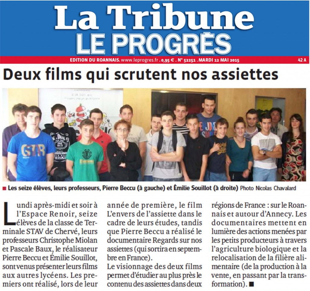 150512 Article le Progres la tribune Roanne